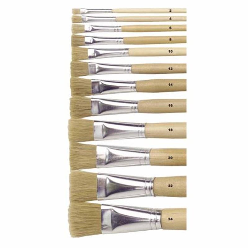 Paint brushes - Lyons - Flat ferrule, long handled - Nr. 4